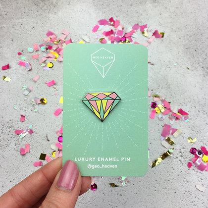 Pastel Diamond Enamel Pin Badge