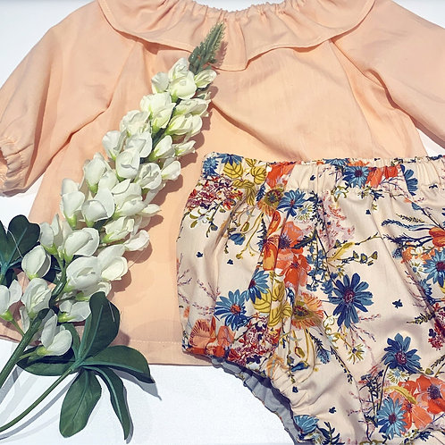 Peach floral bloomers