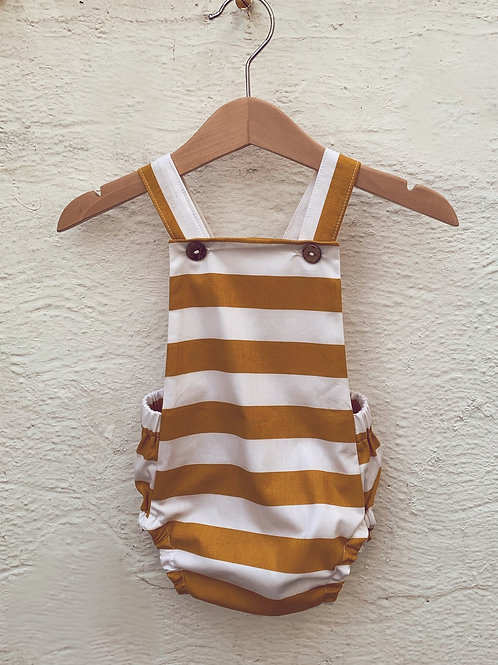 Bubble romper-yellow