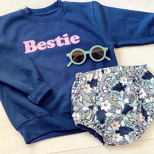Bestie Sweatshirt- Navy