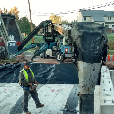 Placing Aggregate backfill at Chester County, PA culvert