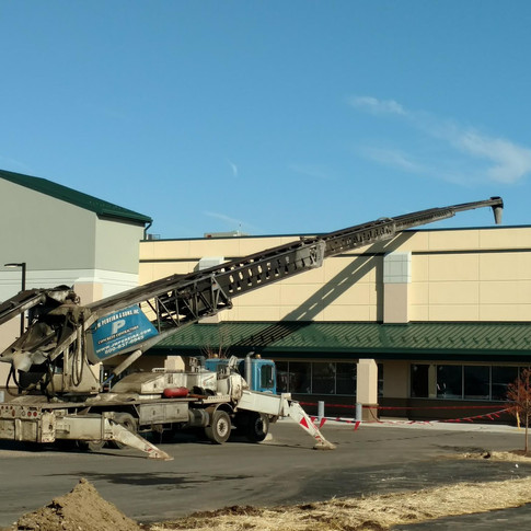 Bio-soil placement for green roof at ShopRite, Philadelphia, PA