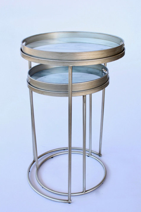 Marble Design Set of Two Side Tables