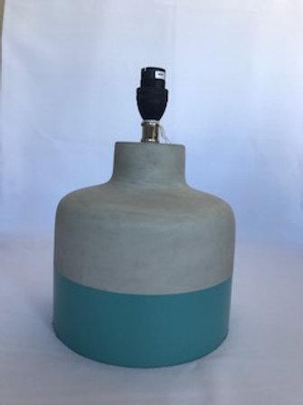 Cement & Blue Lamp Base