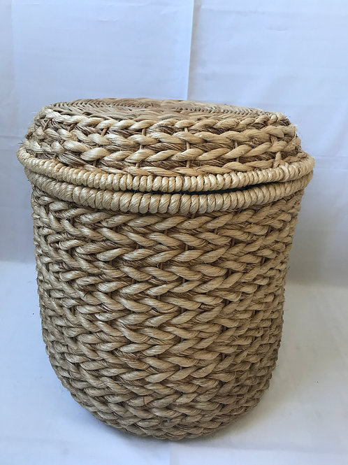 Natural Water Hyacinth Basket with Lid