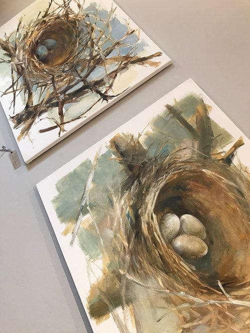 Bird's Nest Oil Painting