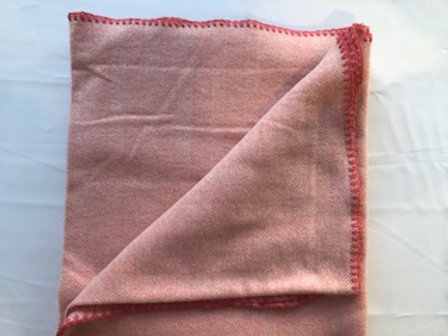 Light Coral Herringbone Throw