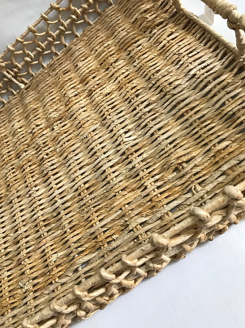 Natural Rectangle River Basket Tray