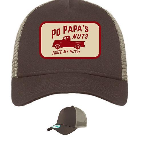 Po Papa's Logo Trucker Cap - Chocolate / Khaki
