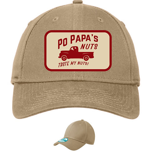 Po Papa's Logo Adjustable Structured Cap - Beige (Stone Gray)