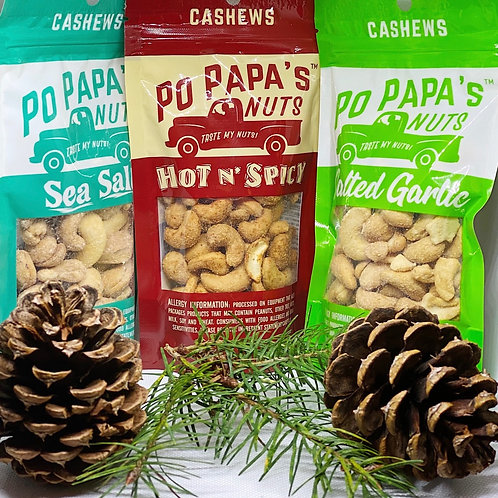 6 Pack - Cashews - Choose flavors (Free ground shipping)