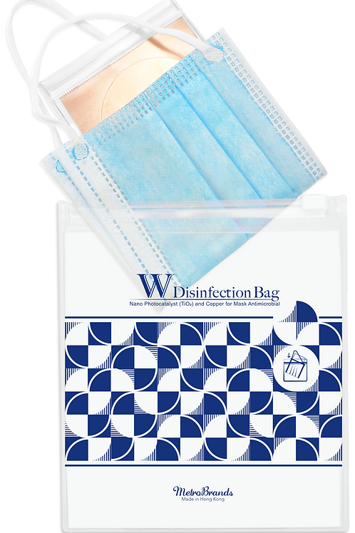 W Disinfection Bag (Navy)-Double Disinfection Tech (Nano-Photocatalyst & Copper)
