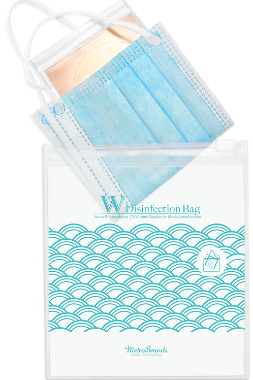 W Disinfection Bag (Turquoise)-Double Disinfection Tech (Nano-Photocatalyst & Co