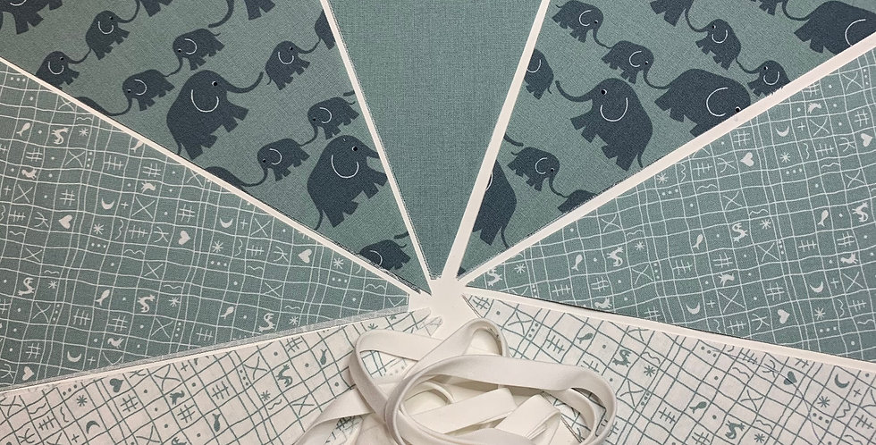 Wimpelkette Elefant Salbei