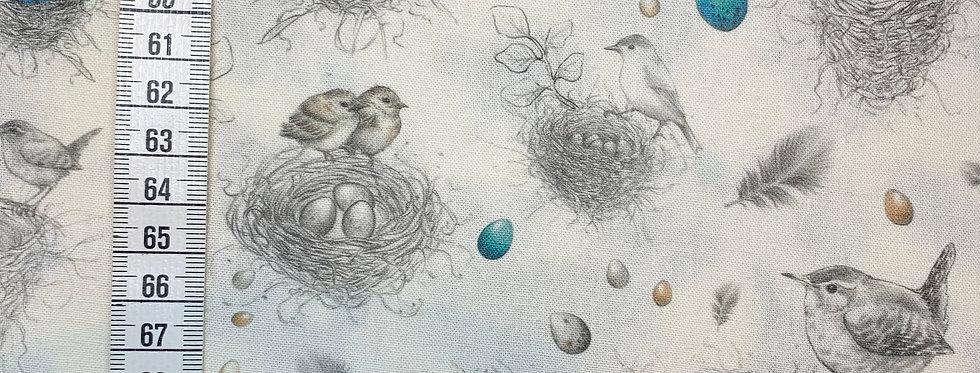 BW-Stoff Vogelnester Acufactum