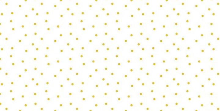 BW-Stoff Tupfen weiss-gelb