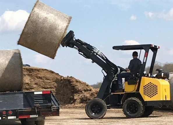Hummerbee Articulated Compact Loader with Forks