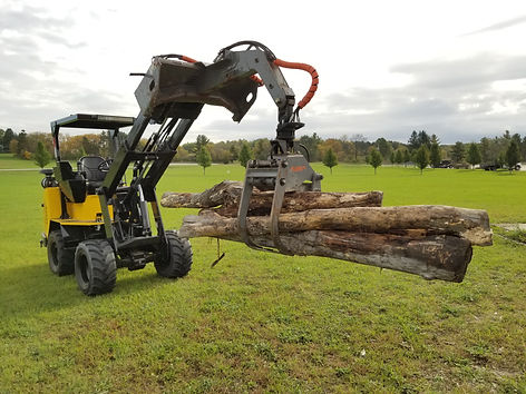 Hummerbee Articulated Compact Loader with Timber Grab