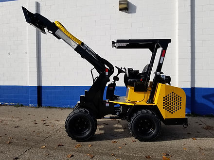 Hummerbee Articulated Compact Loader with Skid Steer Style Tool Carrier