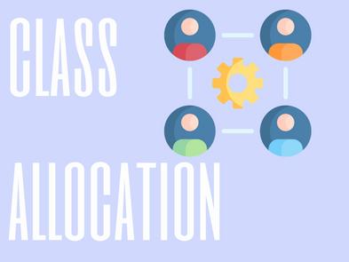 S1 Class Allocation 2020-2021