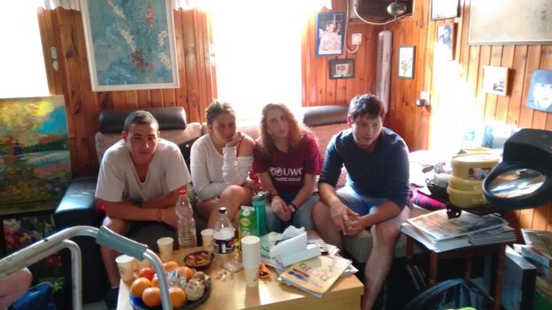 Students visiting EliRam