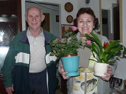 IIsrael and Ludmila on her birthday in K.Shmona