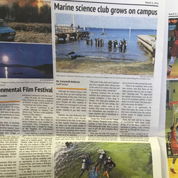 News Article about the Marine Science Club