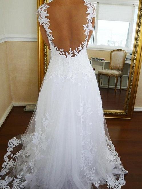 Vestido de Noiva Sem Costas Triunfo