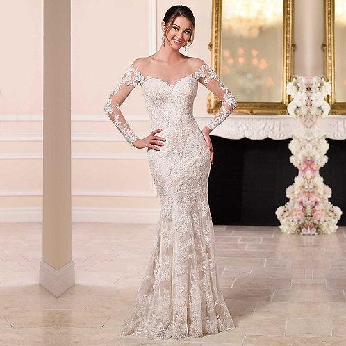 Vestido De Noiva Sereia Manga Longa Desafio