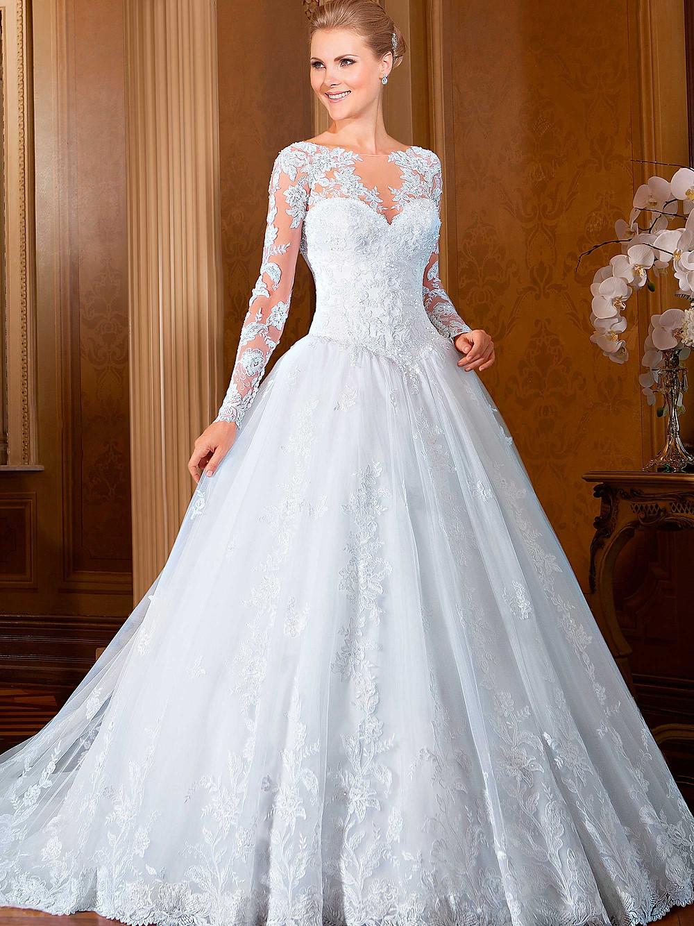 Vestido De Noiva Princesa Decote Coração