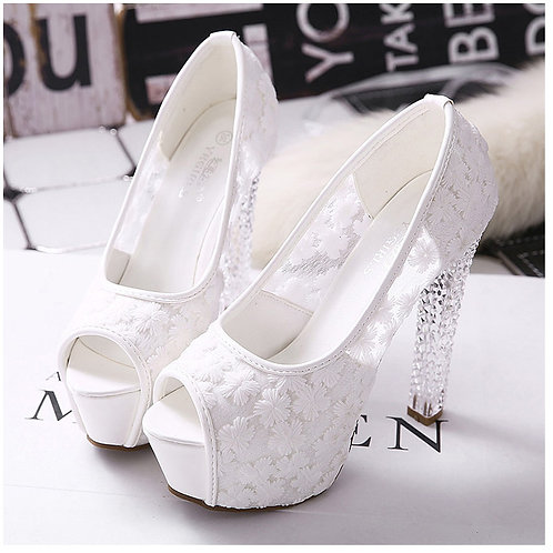 Sapato Peep Toe Noiva Chiquérrima