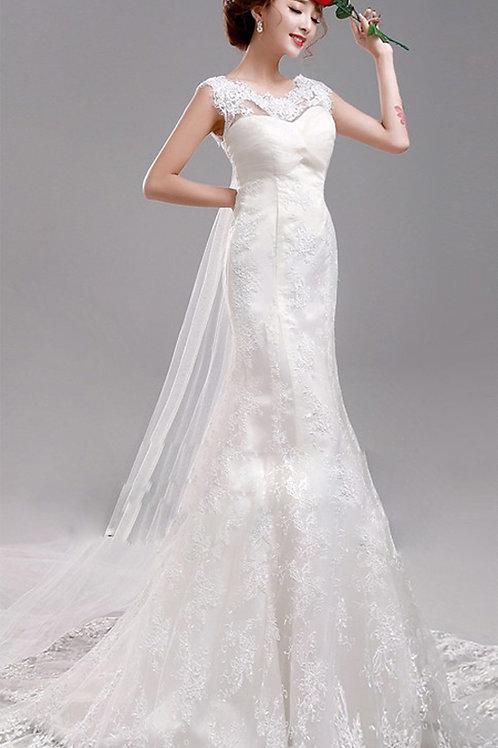 Vestido de Noiva Calada Longa Delicada