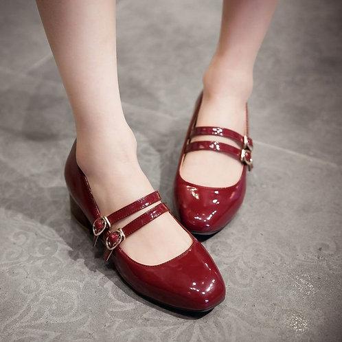 Sapato Mary Jane Brilhante