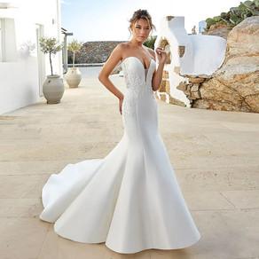 Tecido brilhante no vestido de noiva, você sabe qual é nome ?