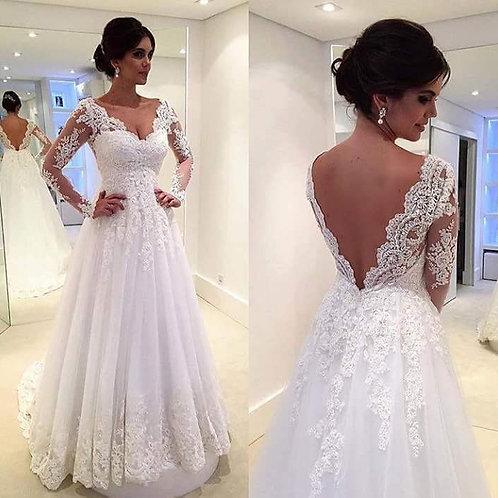 Vestido De Noiva Manga Longa Admirável