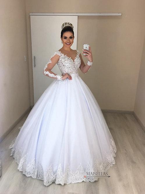 Vestido De Noiva 2 em 1 Enternecer