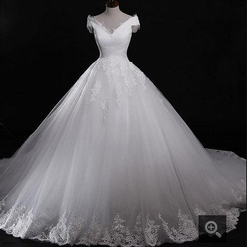 Vestido De Noiva Manga Curta Princesa Alegria