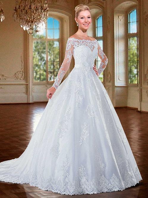Vestido De Noiva Manga Longa Genuíno
