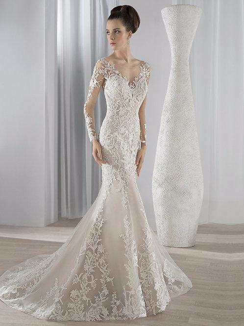 Vestido De Noiva Sereia Manga Longa Belíssima