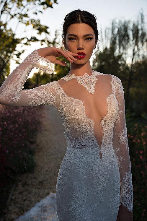 Vestido De Noiva Sereia Manga Longa