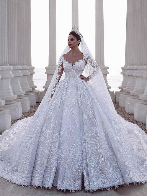 Vestido De Noiva Manga Longa Encatada