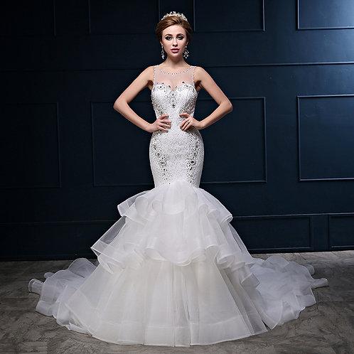 Vestido de Noiva Sereia Charmosa
