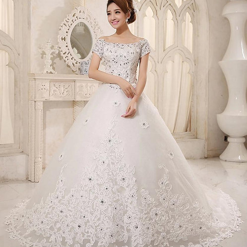 Vestido de Noiva Calda Longa Encantador