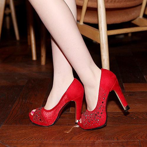 Sapato Peep Toe Estilo