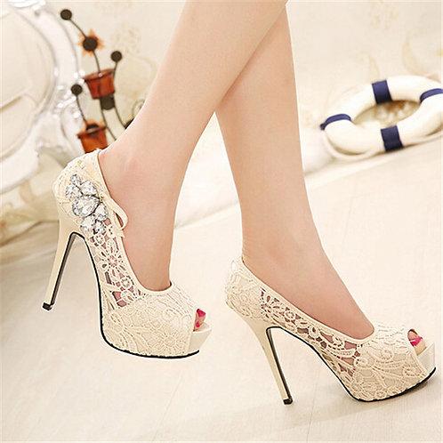 Sapato Peep Toe Sofisticada