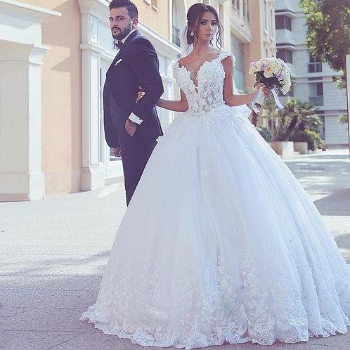 Vestido De Noiva Princesa Amanhecer Decote V