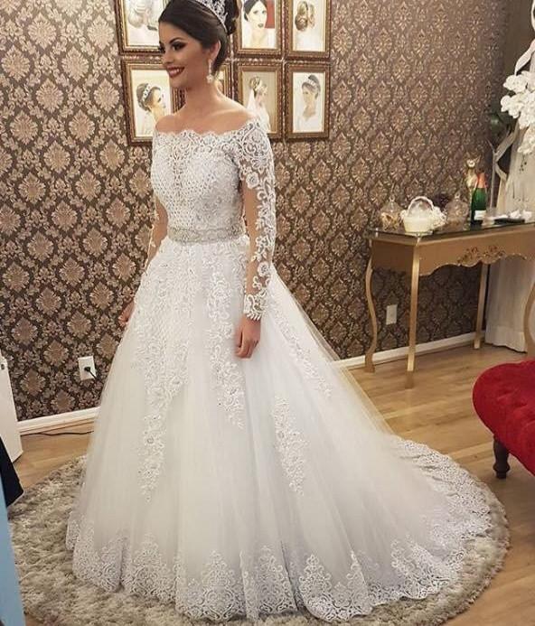 Vestido De Noiva 2 em 1 Curto e Longo