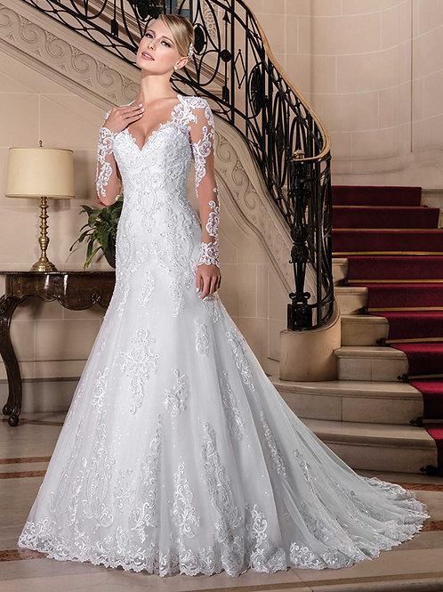 Vestido De Noiva Sereia Manga Longa Atrativa