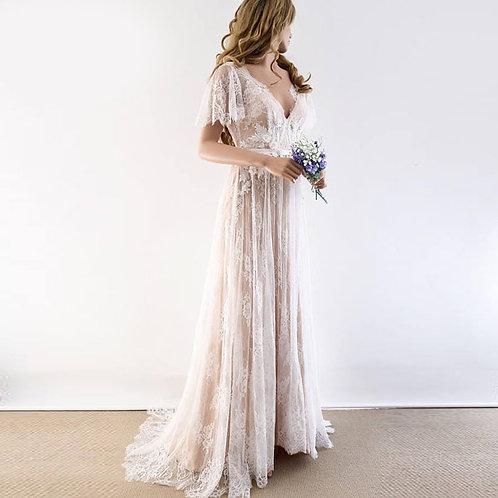 Vestido De Noiva Camponesa Fragilidade