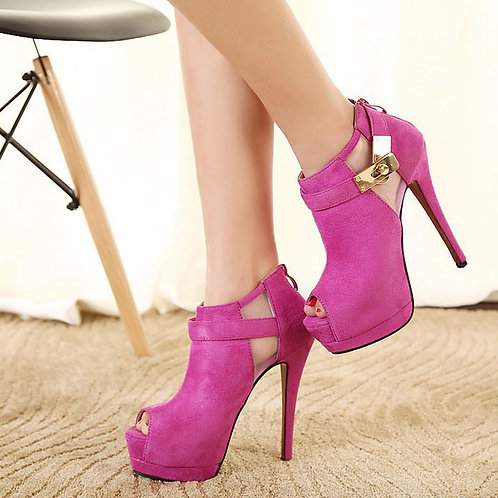 Sapato Peep Toe Provocante